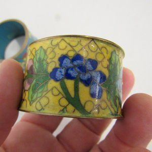Antique Chinese Cloisonne Napkin Rings